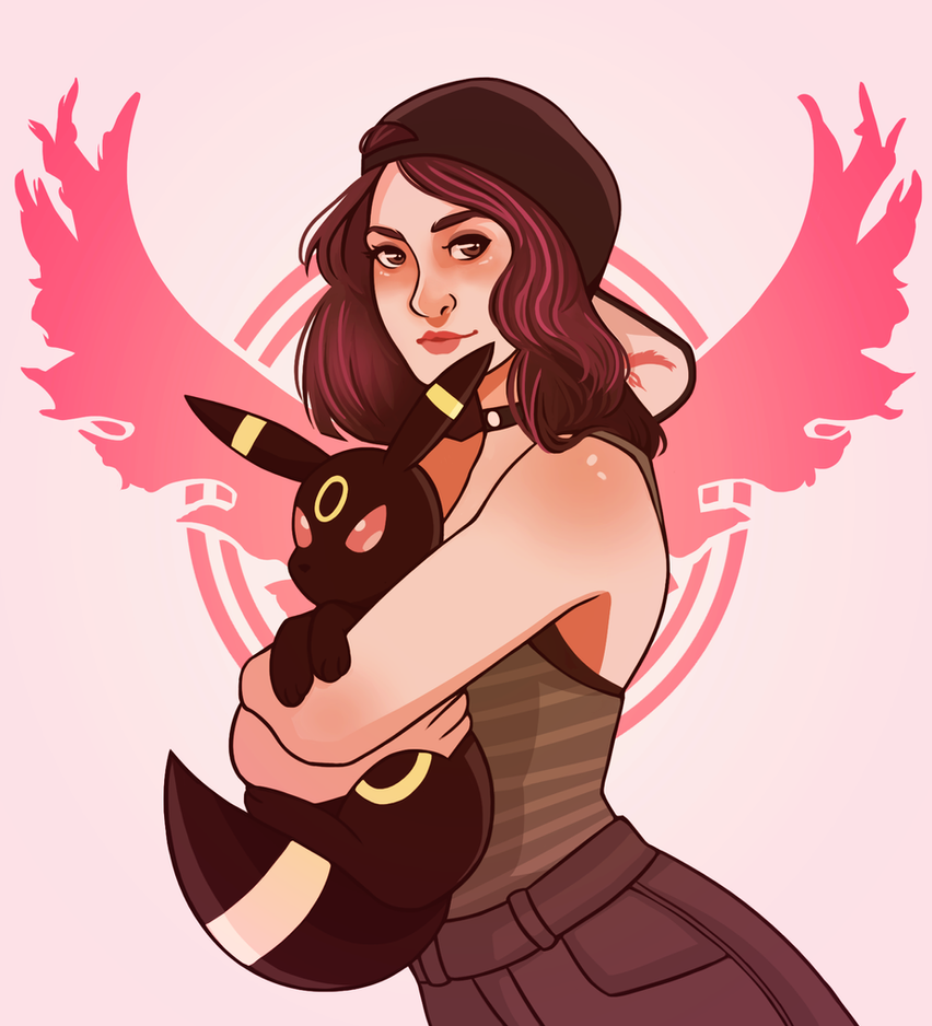 Commission - Alyssa and Umbreon by missxdelaney