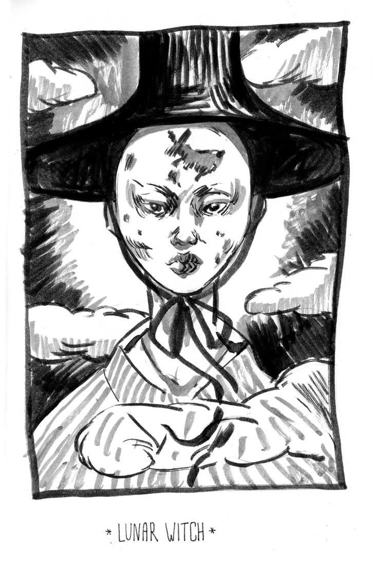 Lunar Witch by Stefan-Kaeli