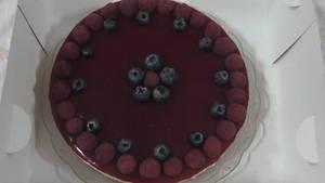 Mix berries cheese cake