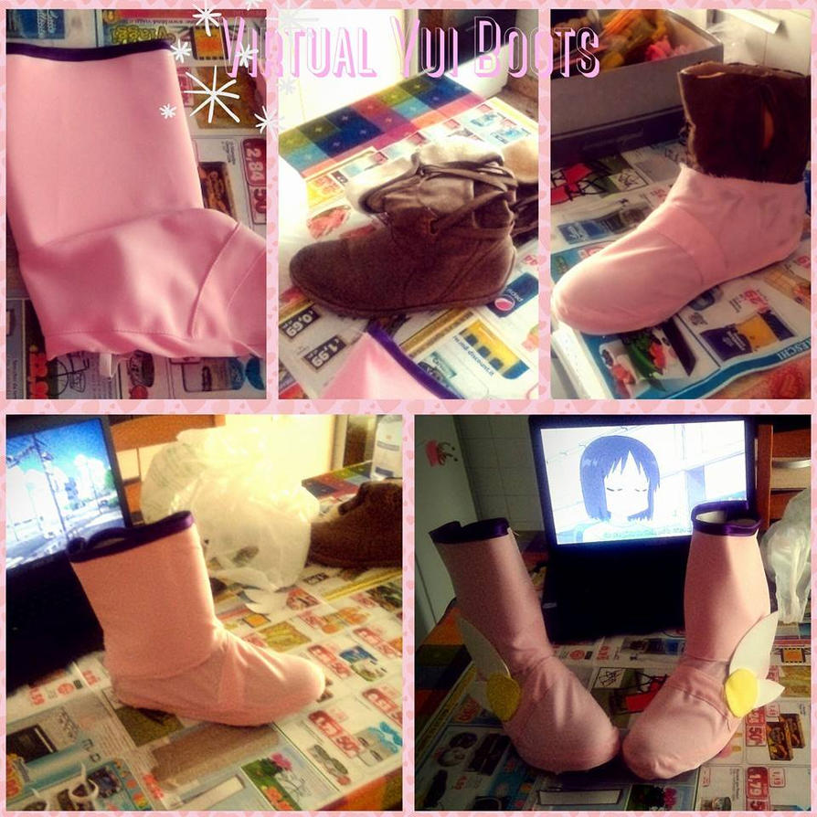 Virtual yui wip boots by MiracleVivi