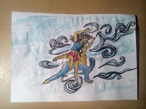 Blue - Dancing Pair