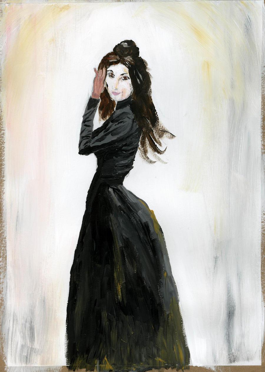 Victorian girl: acrylics by borsic