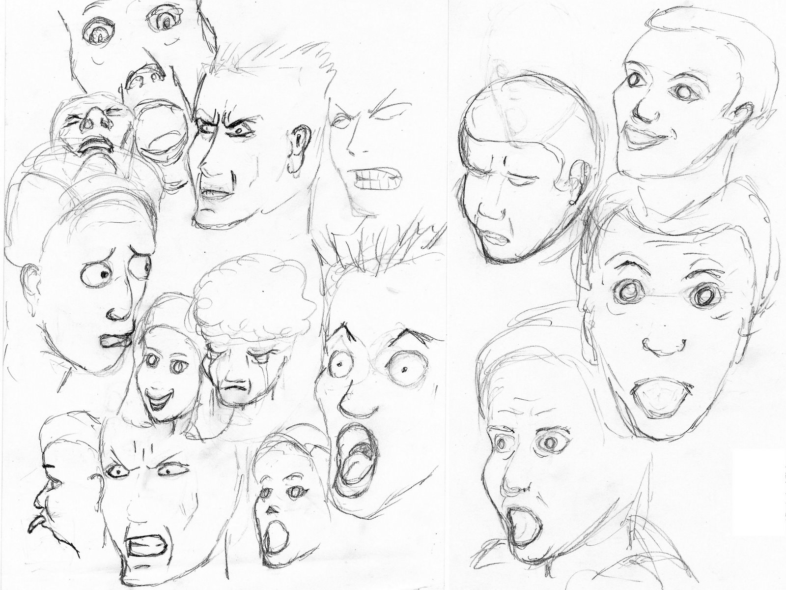 Emotional Lines In Art : The gallery for gt drawings of faces emotions