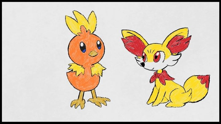 AT : TORCHIC AND FENNEKIN by HOBYMIITHETACTICIAN
