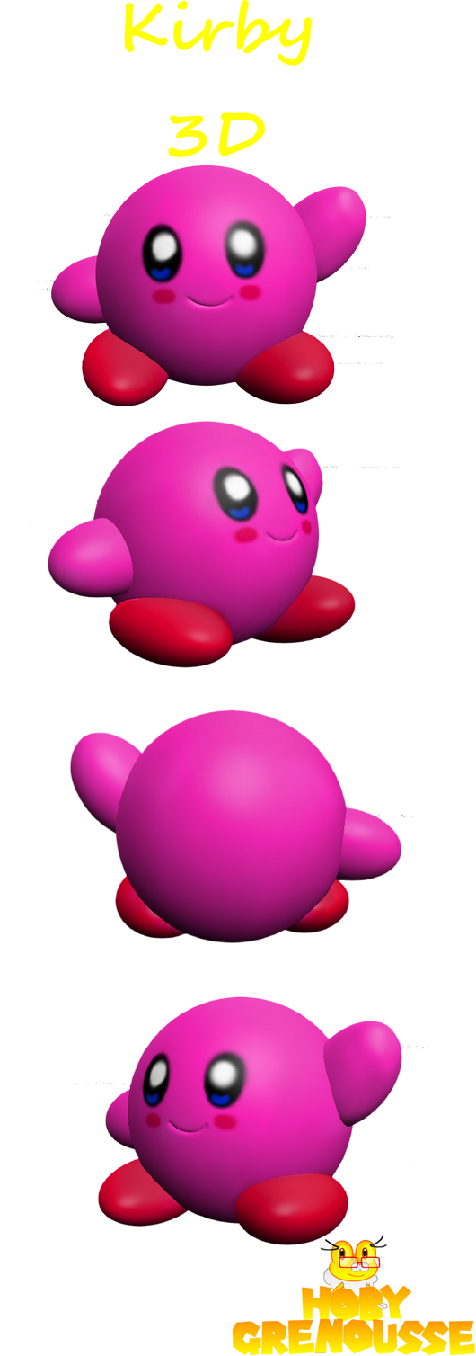 KIRBY 3D by HOBYGRENOUSSE