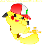 .:ALLY PIKACHU WITH ASH CAP:.