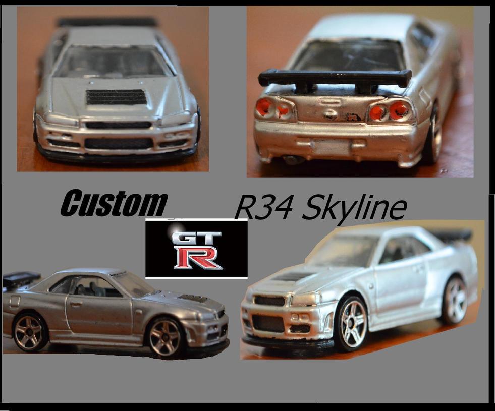 Hot Wheels Custom Nissan R34 Gtr V1 By Csx5344 On Deviantart