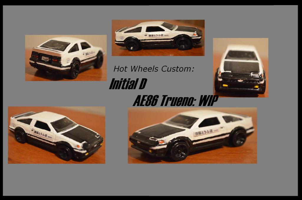 Hot Wheels Custom Initial D Ae86 Trueno Wip By Csx5344 On