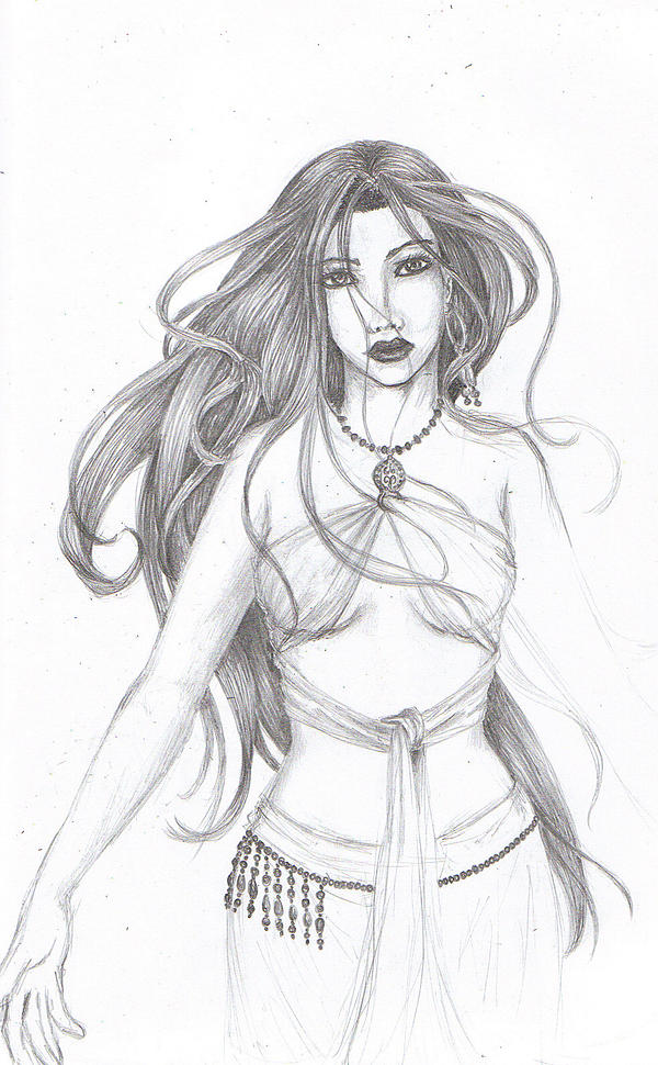 Belly Dancer Line Draw...