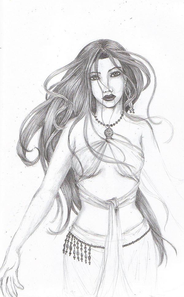 Belly Dancer Line Draw...