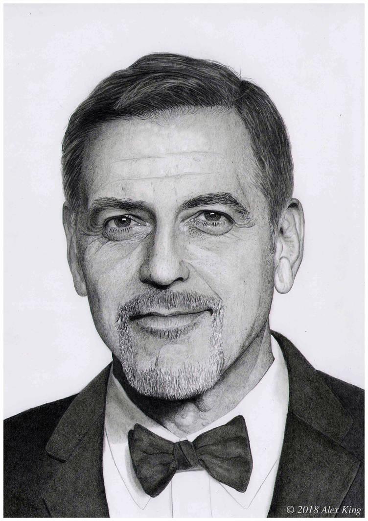 Portrait of George Clooney