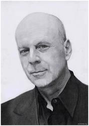 Portrait of Bruce Willis by AlexKingART