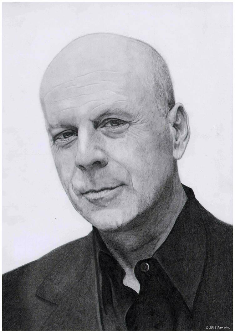 6120561b96ce7 Portrait of Bruce Willis by AlexKingART on DeviantArt