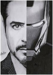 Portrait of an Iron Man by AlexKingART