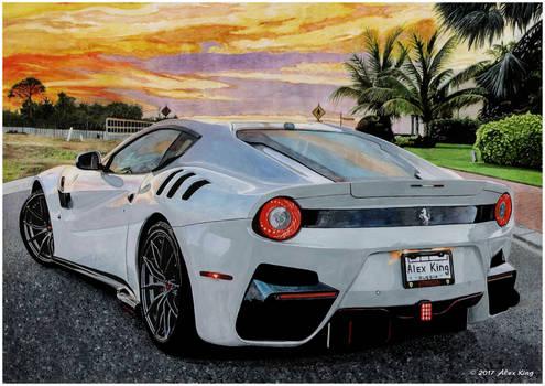 Drawing of Ferrari F12