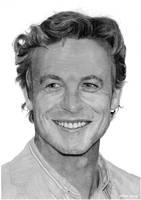 Portrait of Simon Baker by AlexKingART