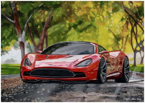 Drawing of Aston Martin