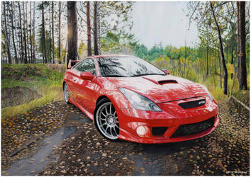 Drawing of Toyota Celica