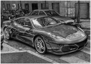 Drawing of Ferrari F430
