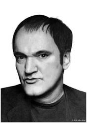 Portrait of Quentin Tarantino.
