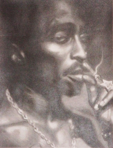 Tupac - Commisioned Portrait by TheHeadChange