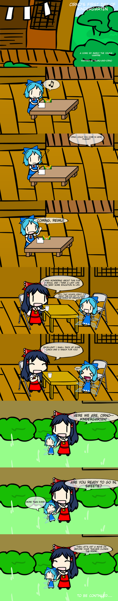 Cirno's First Day of Kindergarten pt. 1 by MarcytheYokaiVampire