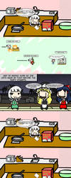 Youmu's Christmas Party, part 1 by MarcytheYokaiVampire