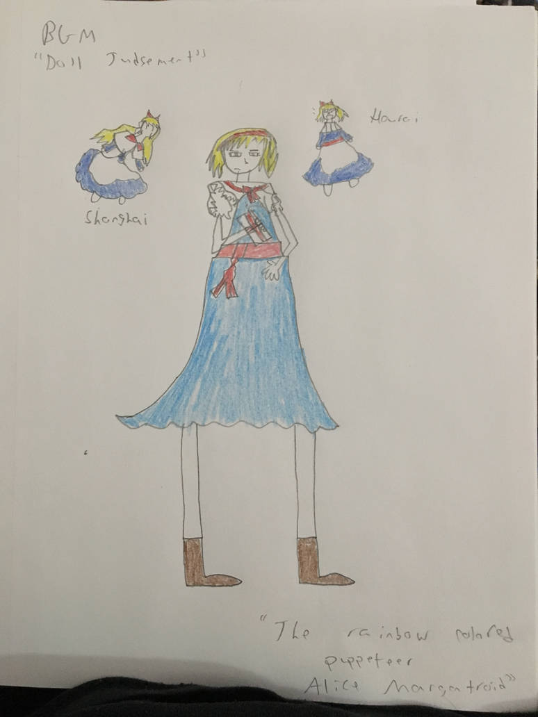 The Rainbow Colored Puppeteer, Alice Margatroid by MarcytheYokaiVampire