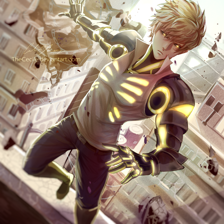 genos  w   speedpaint  by thececile on deviantart