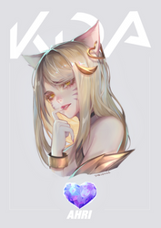 KDA - Ahri - headshot (+ Speedpaint)