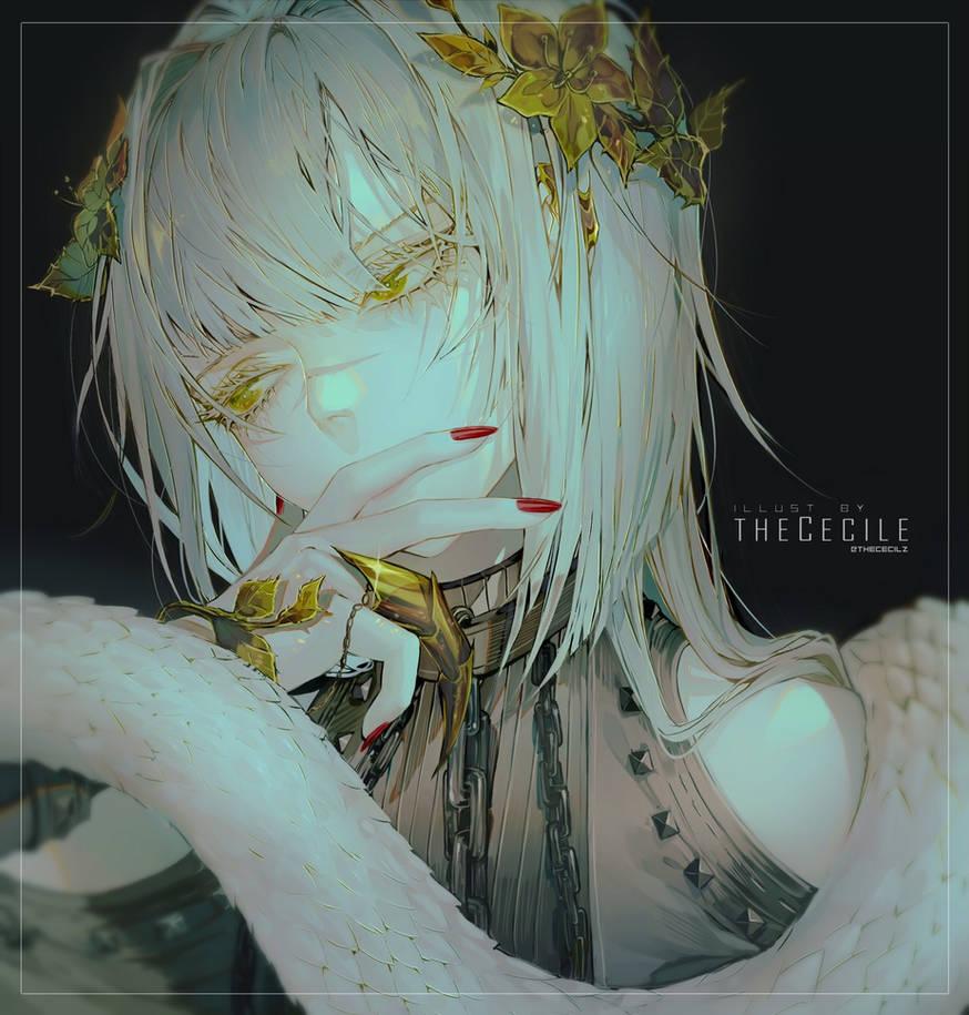 Cecile - Snake (+speedpaint)
