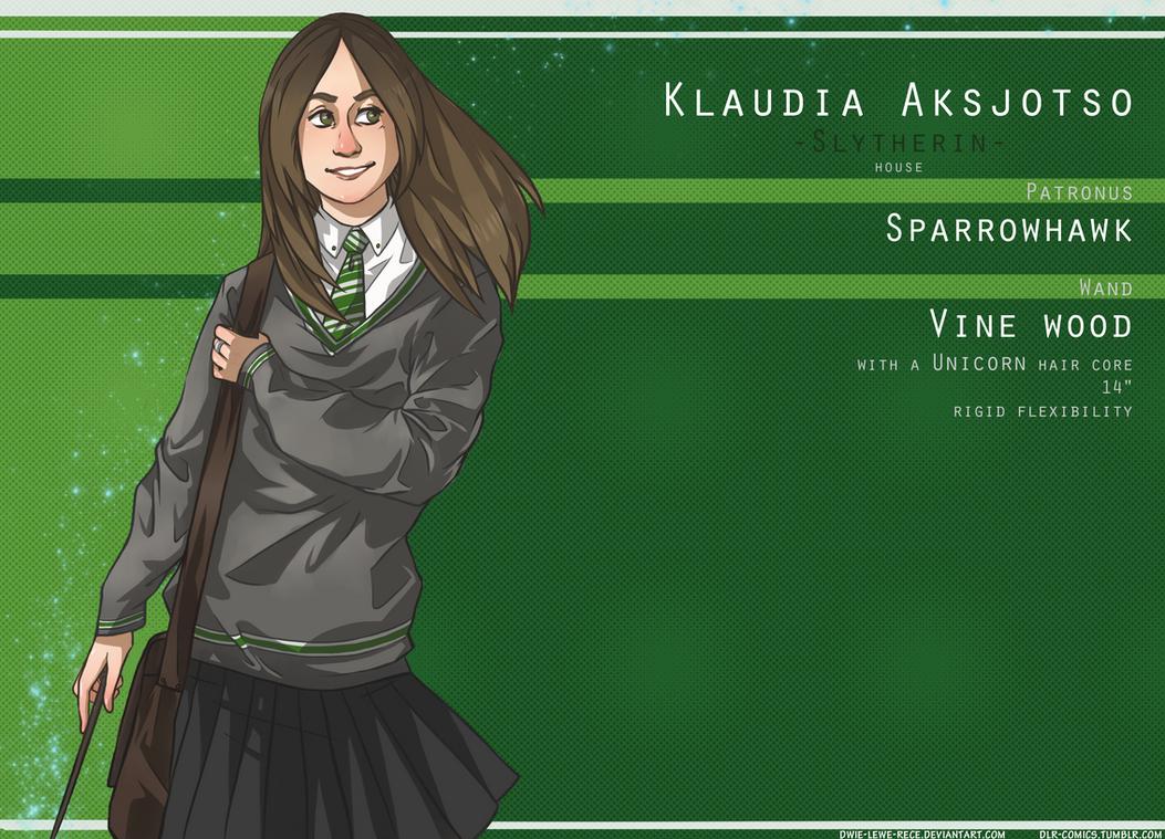 Harry Potter OC - Klaudia by Dwie-Lewe-Rece