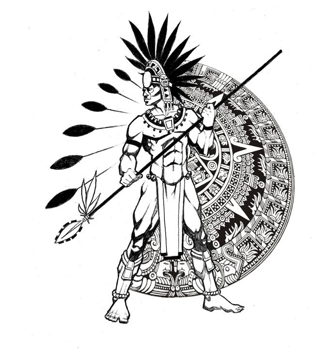 Calendar Design Drawing : Aztec calendar by ralfelor on deviantart