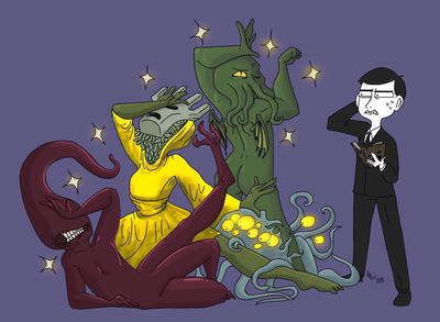 Draw your squad Lovecraft mythos by leovincible