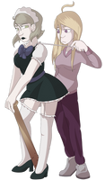 Pregame Kaede and Kirumi by katiejane2001