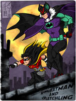Noibatman and Fletchling by KonnorWite