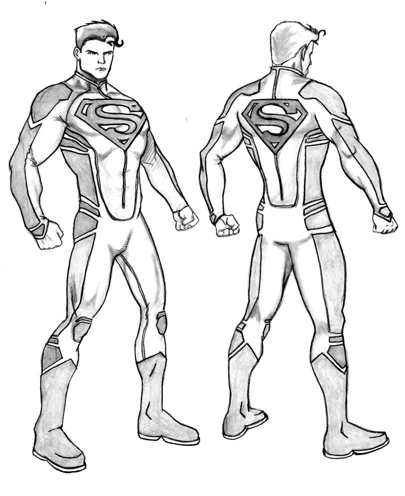 New 52 Justice League Coloring Coloring Pages Justice Superboy Coloring Pages Free
