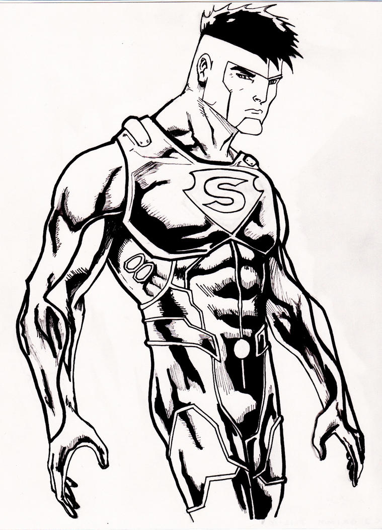 super boy coloring pages - photo#18