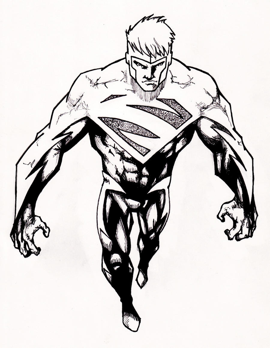 Superman Superboy By Grimmcj On Deviantart Superboy Coloring Pages