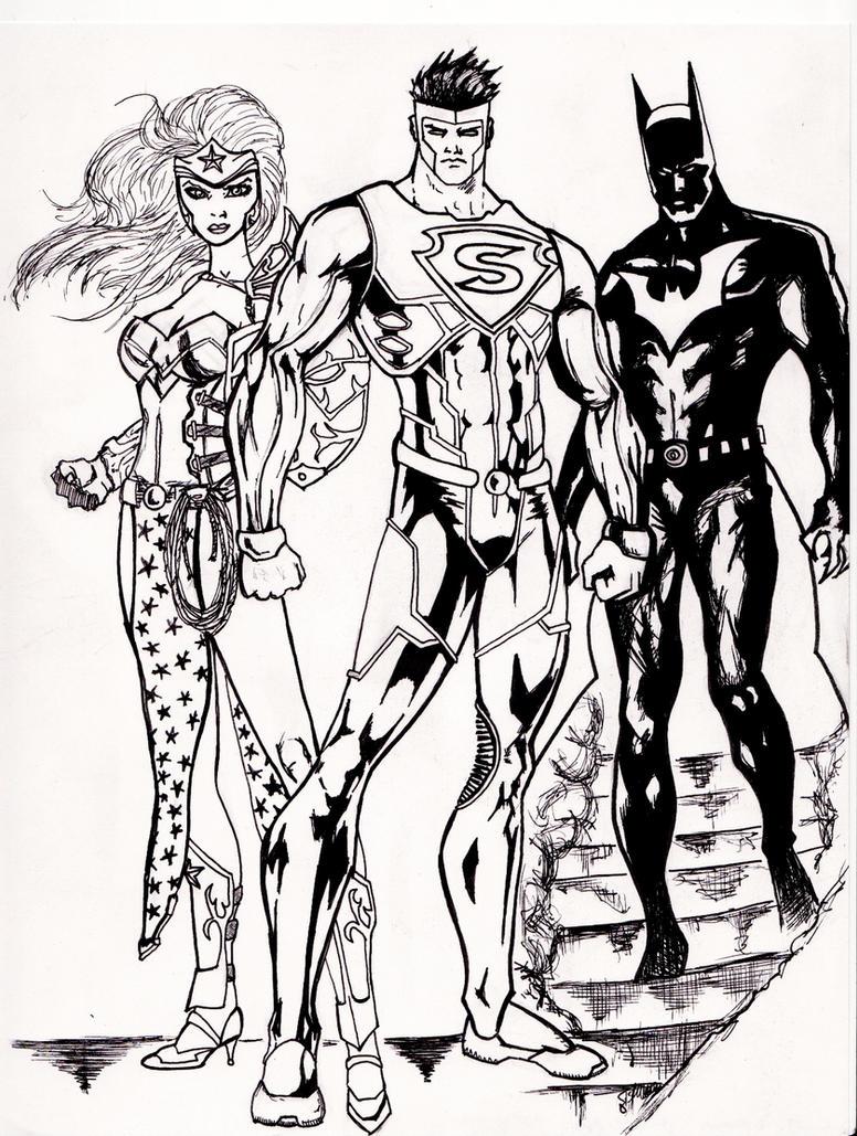 Superman Wonder Woman Batman By Grimmcj On DeviantArt