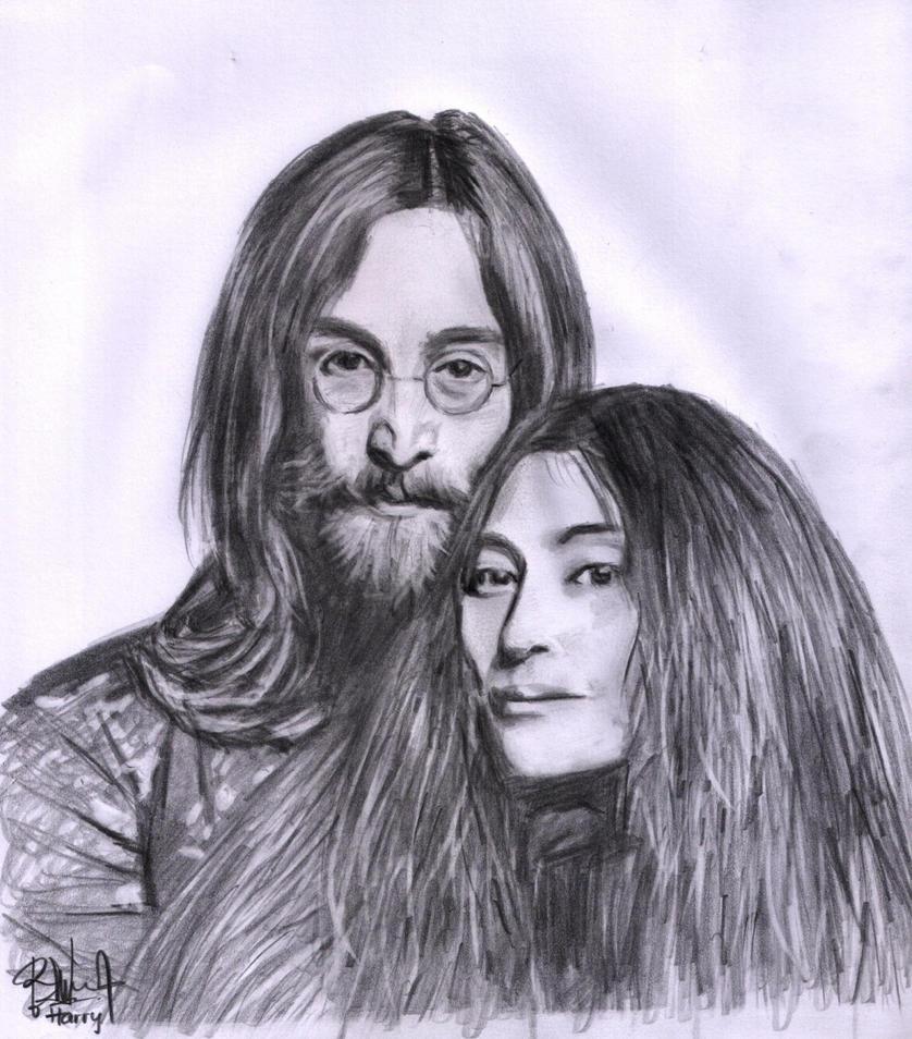 John Lennon And Yoko Ono By Romseskype