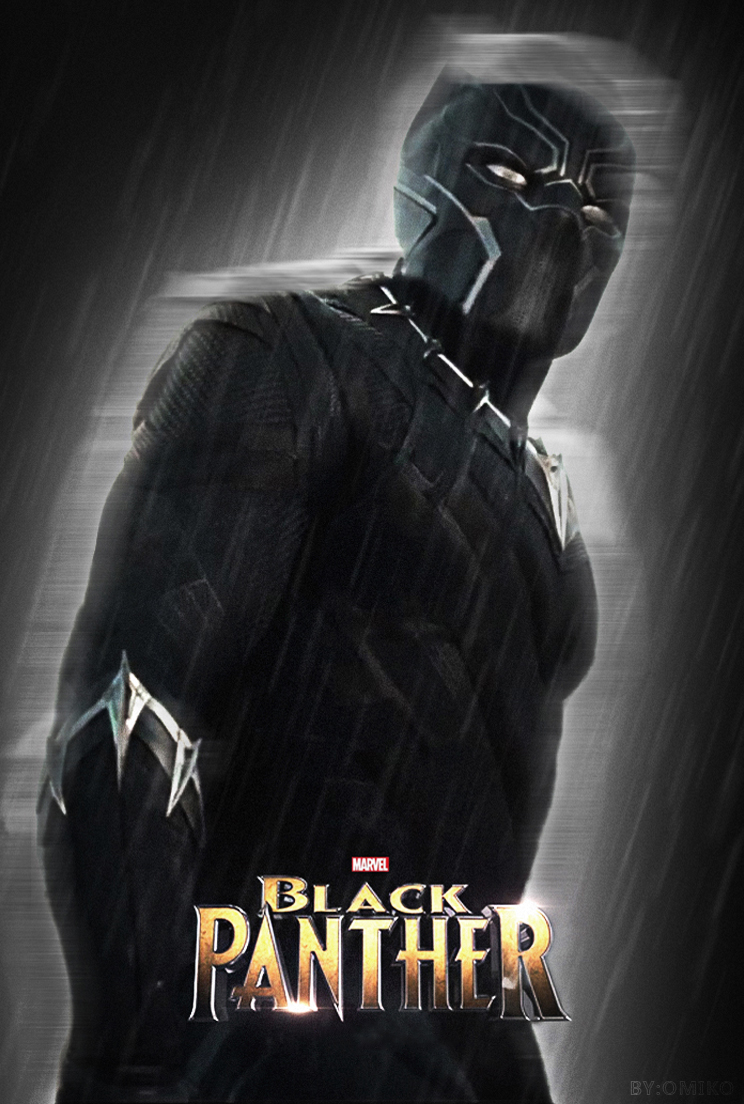 black panther movie poster by omikonemswveridze on