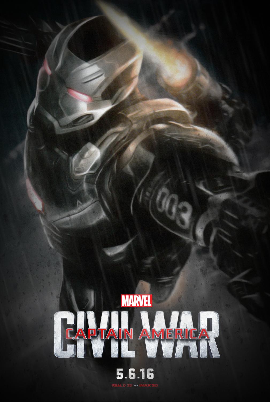 Captain america: Civil War-war machine fan poster by ...