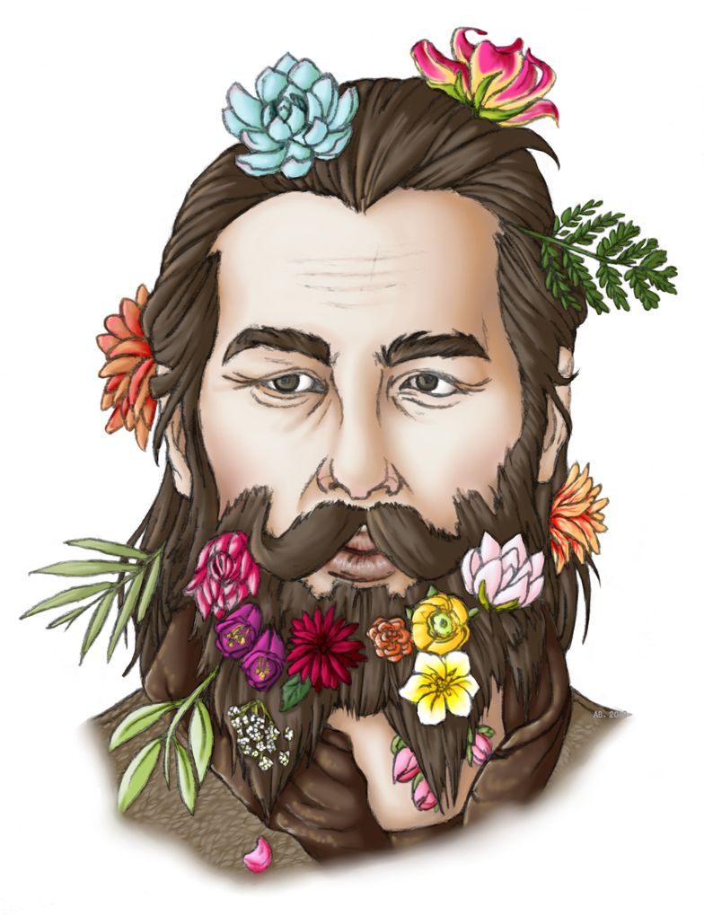 Flower Beard Blackwall by CitrusCupcake