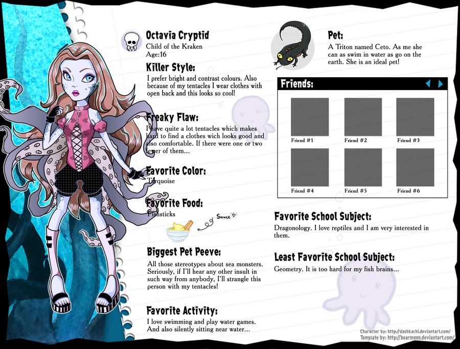 Monster High OC: Octavia by fjorgael