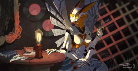 Sketch CM - Butterfly-dragon