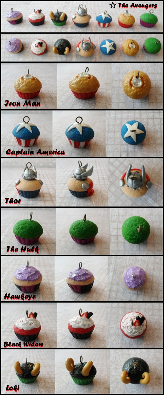 Avengers Cupcake Cake Decorations