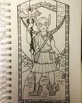 Hermes- Inktober day 17 by Celerybandit