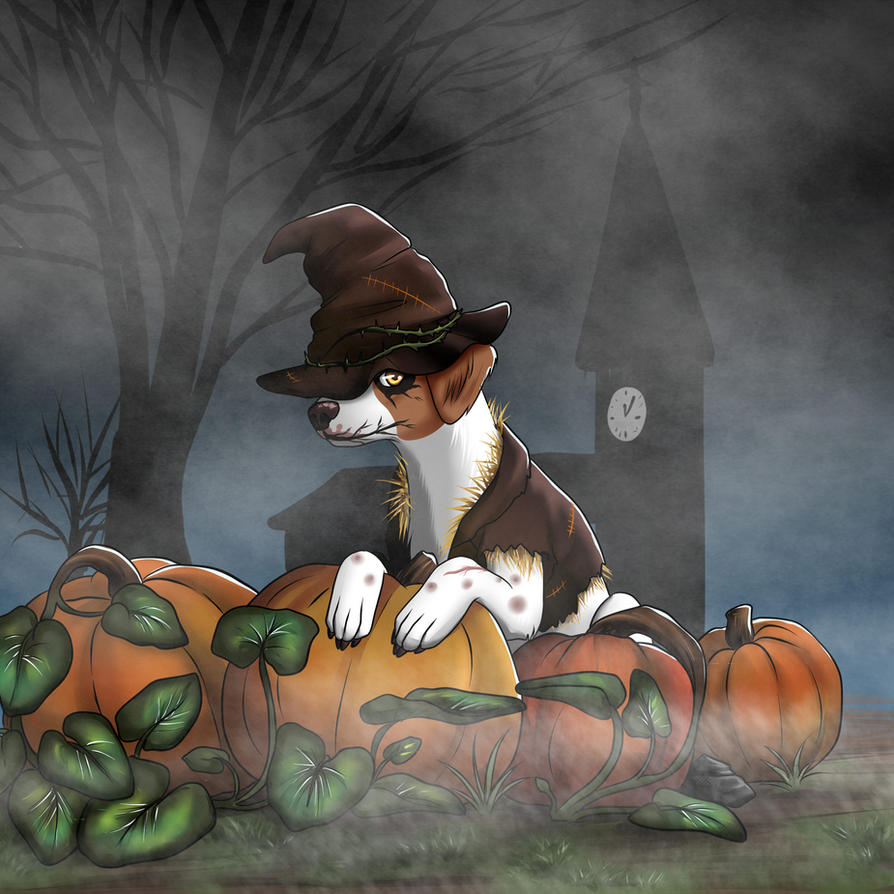 Happy-tails : cute vs spooky costume contest by kiba-chan27