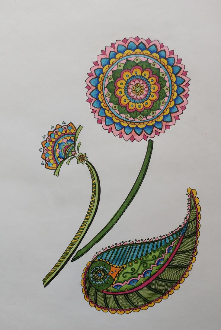 Mandala Flowers by PleasantDoom